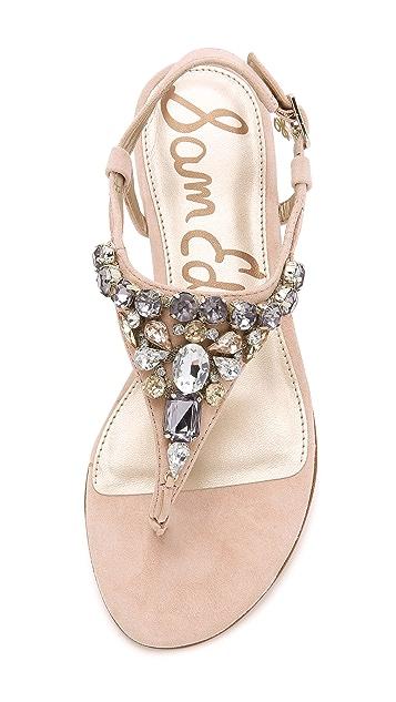 Sam Edelman Dayton Jeweled Suede Sandals