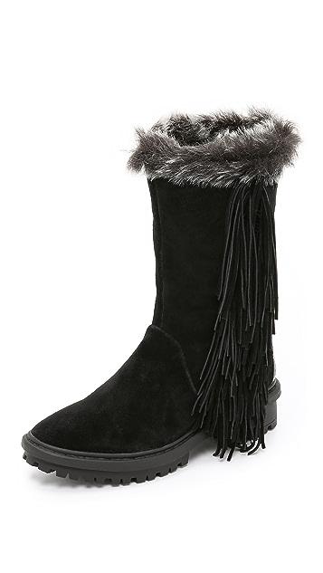 a6e1b32b1417b1 Sam Edelman Tilden Faux Fur Lined Fringe Boots ...