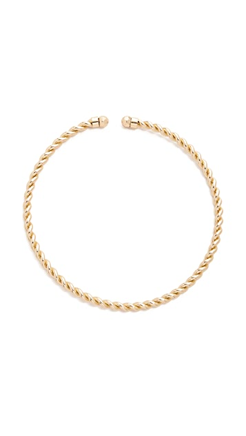 Sam Edelman Twisted Rope Collar Necklace