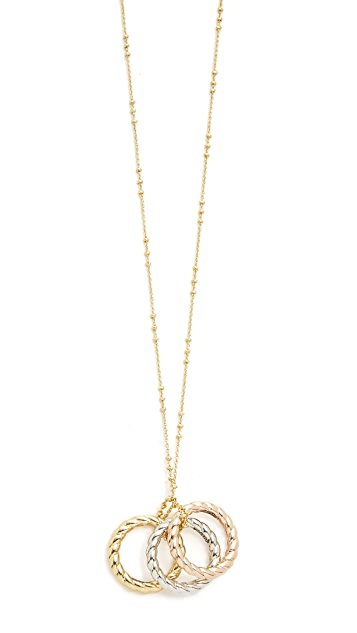 Sam Edelman Twisted Ring Pendant Necklace