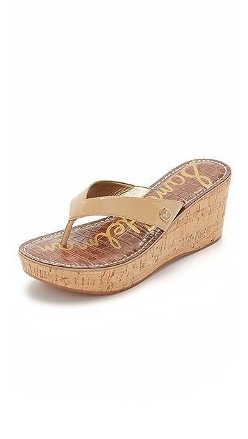 44609d2d81de Sam Edelman Romy Wedge Thong Sandals