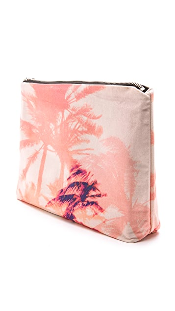 Samudra Electric Beach Neon Palms Pouch