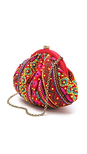Santi Beaded Knit Clutch