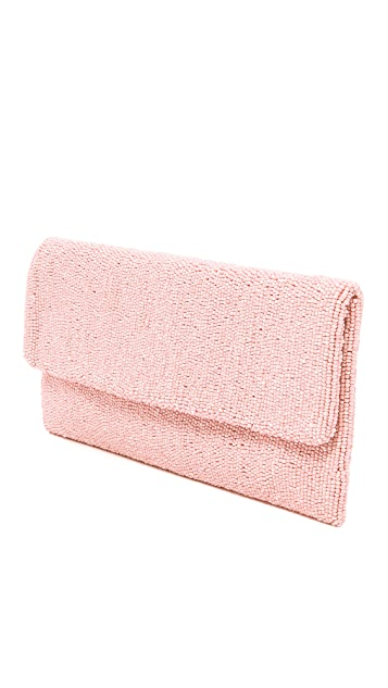 Santi Beaded Fold Over Clutch