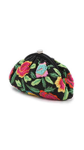 Santi Embroidered Flower Clutch