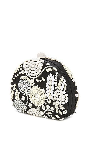 Santi Imitation Pearl Embroidered Clutch
