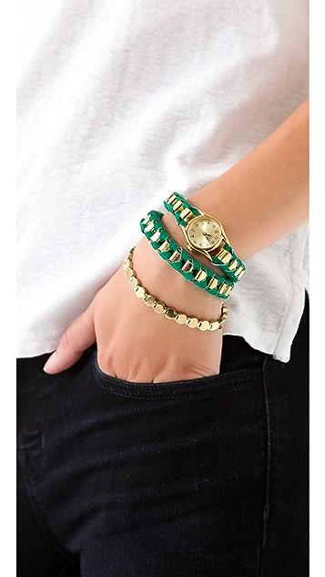 Sara Designs NY Box Chain Wrap Watch