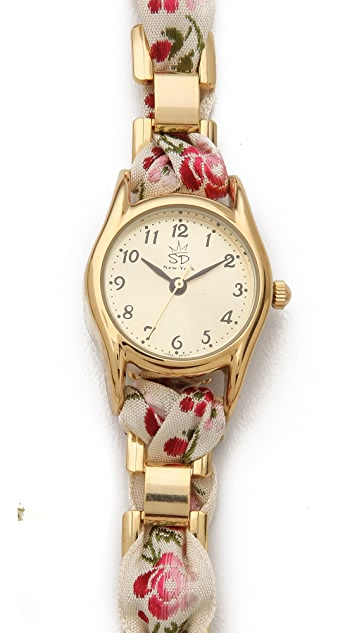 Sara Designs Floral Wrap Watch