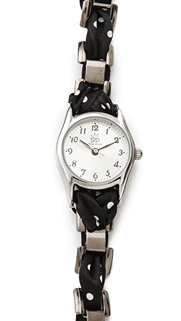 Sara Designs Polka Dot Wrap Watch