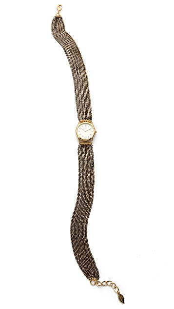 Sara Designs Color Washed Chain Wrap Watch