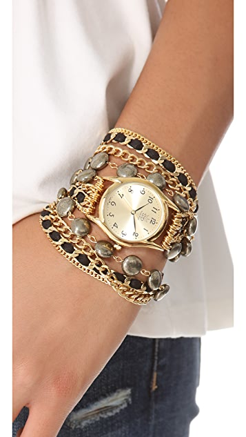 Sara Designs Coin Shaped Wrap Watch