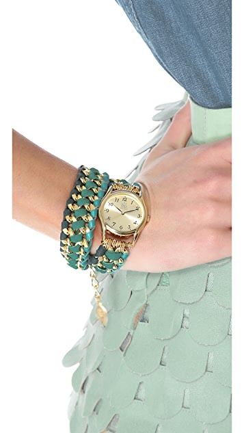 Sara Designs Asymmetrical Woven Wrap Watch