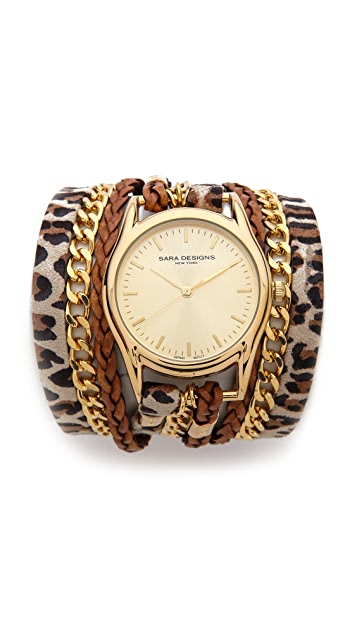 Sara Designs Leo Chain Wrap Watch