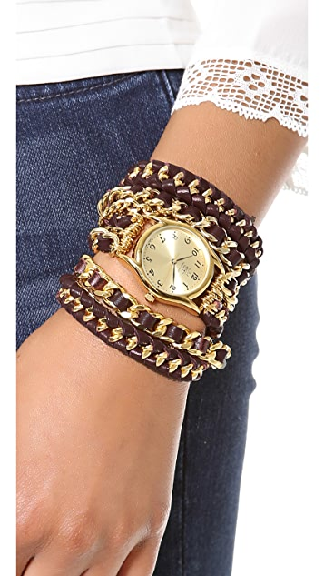 Sara Designs Woven Wrap Watch