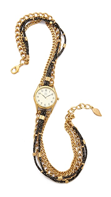 Sara Designs Metallic Cord Wrap Watch