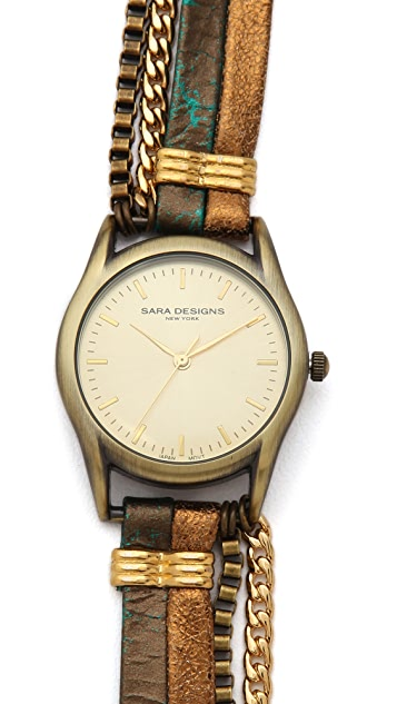 Sara Designs Croc Wrap Watch