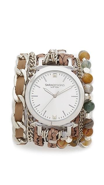 Sara Designs Agate Wrap Watch