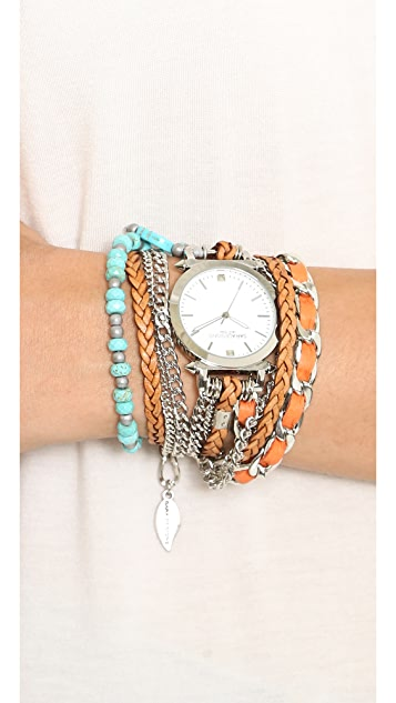 Sara Designs Turquoise Wrap Watch