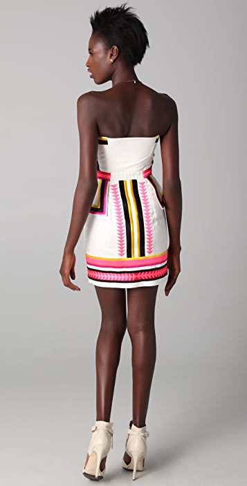 sass & bide Pick 'N Mix Strapless Dress