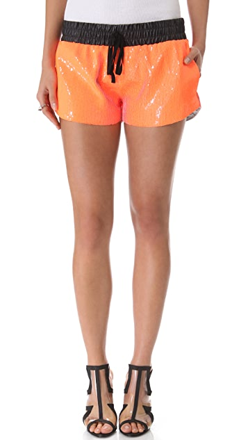 sass & bide Audience Sequin Shorts
