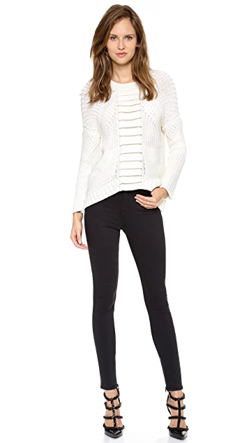 sass & bide Addiction to Love Textured Pullover