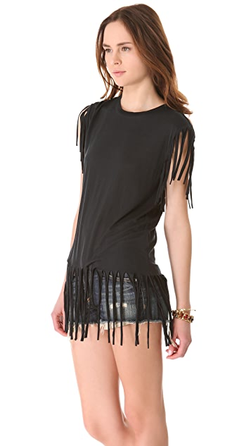 Sauce Fringe Tunic Top