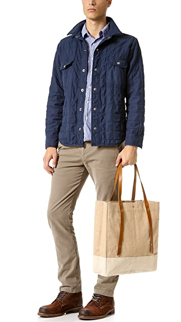 Save Khaki Quilted CPO Jacket