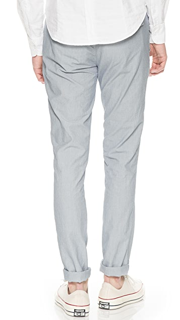 Save Khaki Novelty Slim Trousers