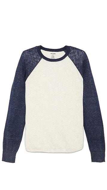 Save Khaki Long Sleeve Baseball Sweater
