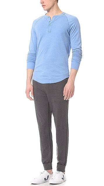 Save Khaki Pointelle Sweatpants