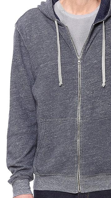Save Khaki Long Sleeve Zip Hoodie