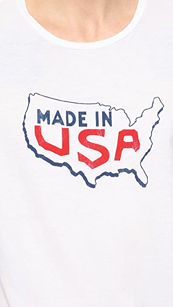 Save Khaki USA Map T-Shirt