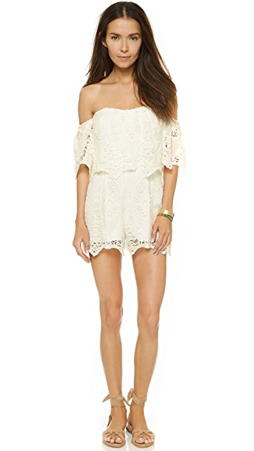Saylor Vineyard Embroidery Daisy Romper