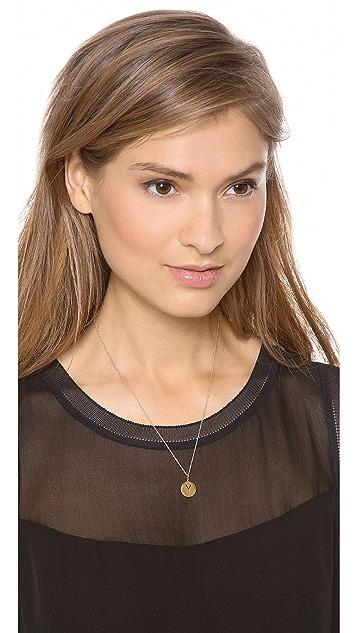 Sarah Chloe Eva Engraved Pendant Necklace