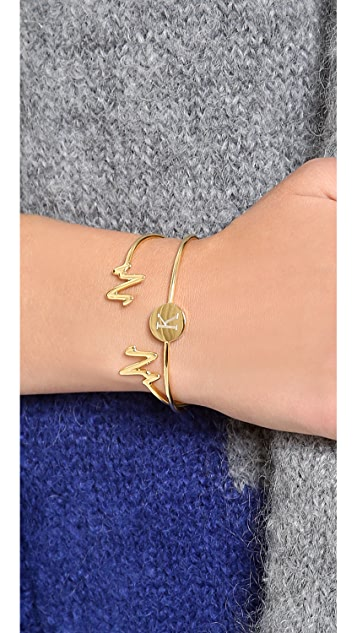 Sarah Chloe Heartbeat Bangle Bracelet