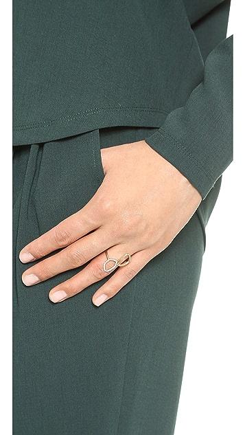Sarah Chloe Diamond Organic Mirror Ring