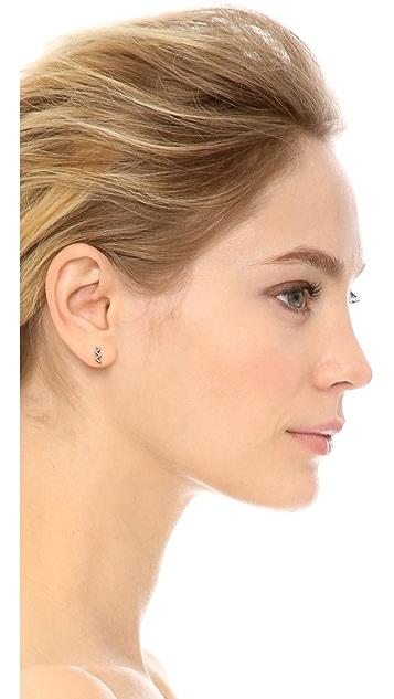 Sarah Chloe Zigzag Earrings
