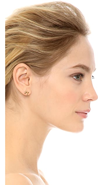 Sarah Chloe Heartbeat Stud Earrings
