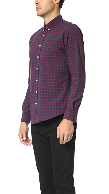 Schnayderman's Leisure Herringbone Medium Check Shirt