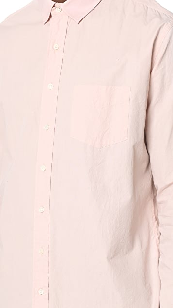 Schnayderman's Leisure Poplin One Wrinkled Shirt