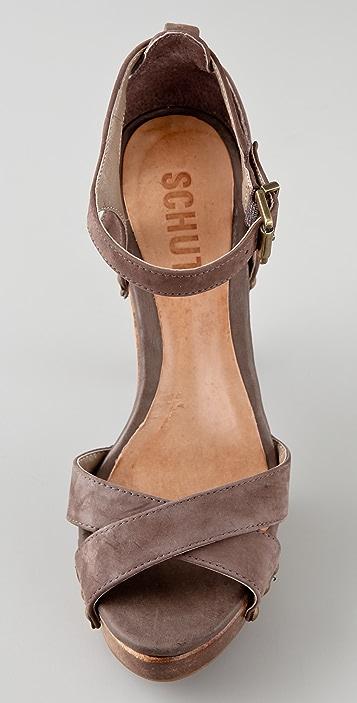 Schutz Clog Platform Sandals