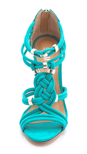 Schutz India Braided Suede Sandals