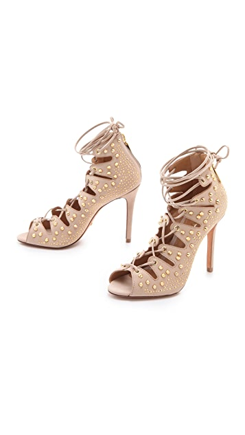 Schutz Arieli Lace Up Booties