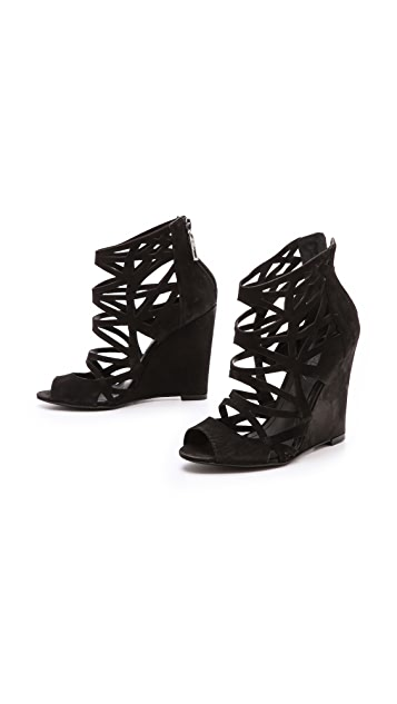 Schutz Carlee Cutout Wedge Sandals