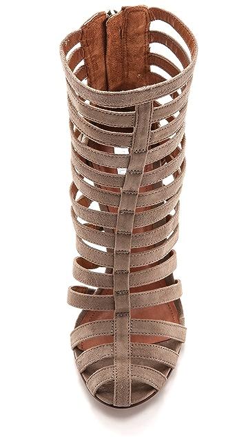 Schutz Faisa Suede Cage Sandals
