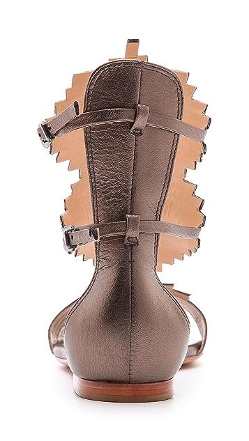 Schutz Feryel Woven Flat Sandals