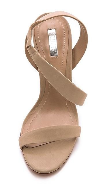 Schutz Tabacema Nubuck Sandals