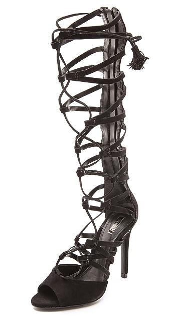 Schutz Zoneide Suede Gladiator Sandals