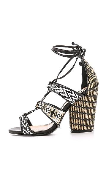Schutz Evanuza Woven Sandals