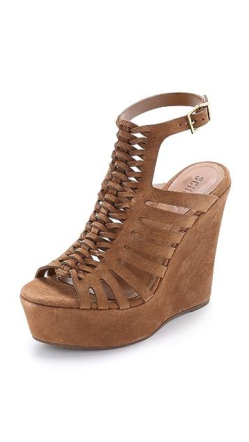 Schutz Rachelle Woven Wedge Sandals
